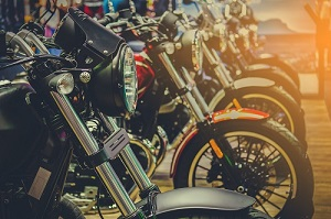 a few motorcycles lining up